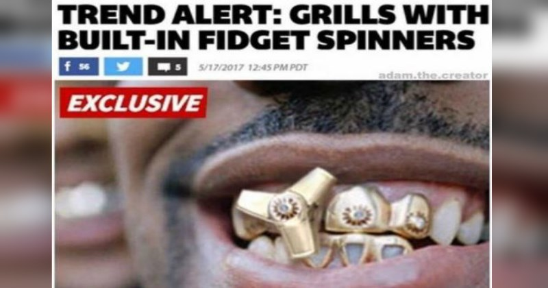 new trend is adding fidget spinners to grills - cover image for a list of strange things