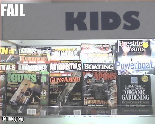 failboat g rated gun literature inappropriate kids magazine sign - 2263516928