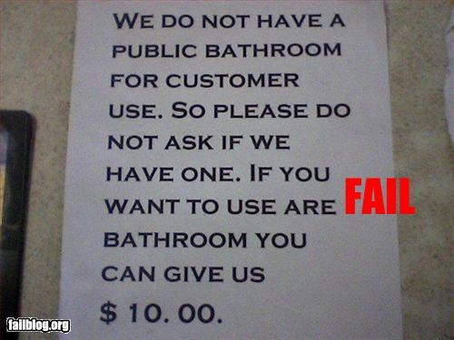 bathroom,failboat,grammar,g rated,price,sign,spelling