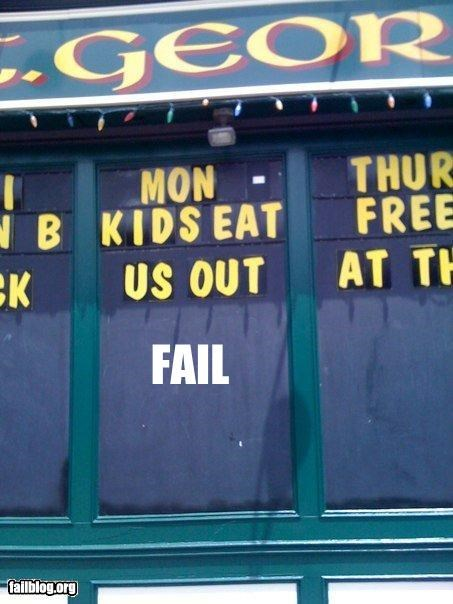 bilbo cum failboat FAILS restaurants signs