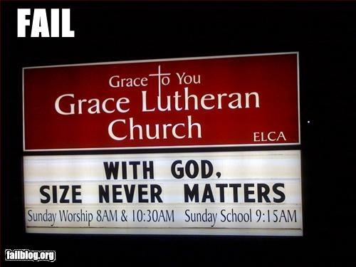 Church Sign Fail This is wrong in so many ways.