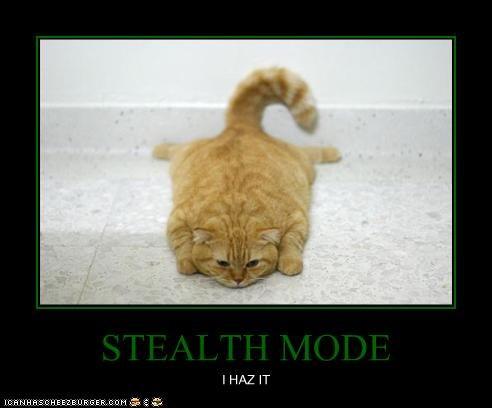 STEALTH MODE I HAZ IT