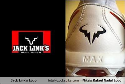 Jack Link S Logo Totally Looks Like Nike S Rafael Nadal Logo Cheezburger Funny Memes Funny Pictures
