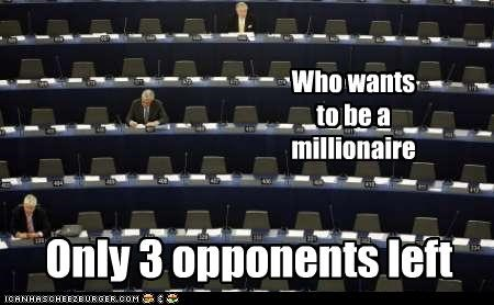 Who wants to be a millionaire Only 3 opponents left