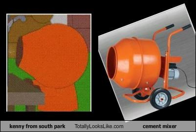 kenny from south park Totally Looks Like cement mixer