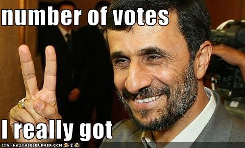 dictator elections iran Mahmoud Ahmadinejad voting - 2276702976