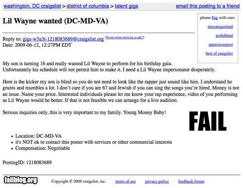 craigslist,g rated,parent