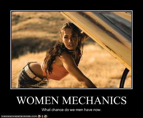 Women Mechanics Cheezburger Funny Memes Funny Pictures