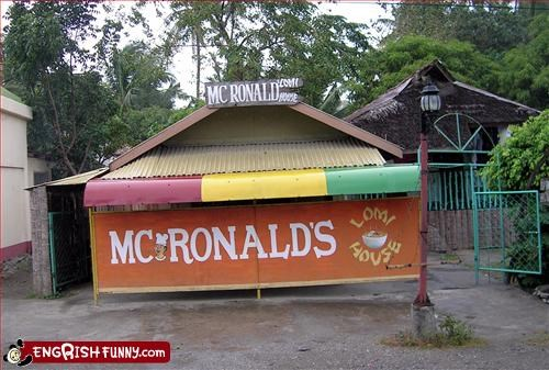 brand name g rated McDonald's name restaurant