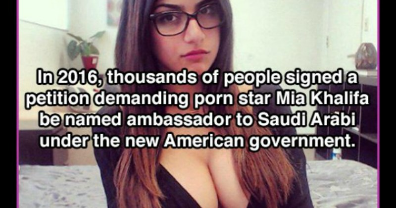 Mia khalifa fun facts about how she was almost elected as ambassador - cover image to a fun facts list