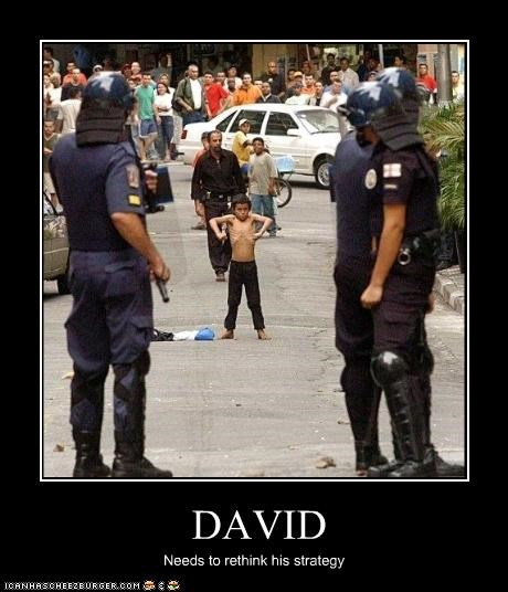 child david and goliath police protesters - 2281129216
