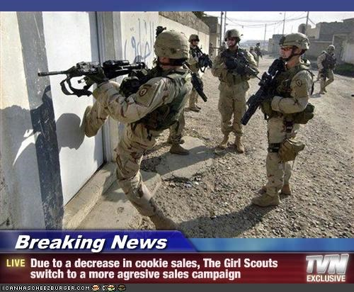 army,girl scouts,guns,iraq,military,soldiers,war