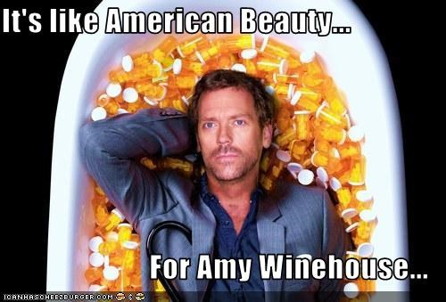 American Beauty amy winehouse drugslots-and-lots-of-drugs House MD hugh laurie movies Music TV