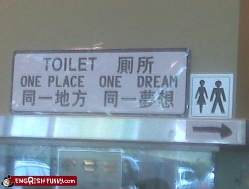bathroom,dreams,g rated,signs,toilet