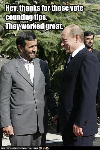 elections iran Mahmoud Ahmadinejad president russia Vladimir Putin voting - 2291305216