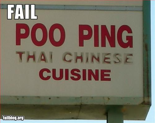 chinese company name g rated names poo restaurant Thai - 2292347136