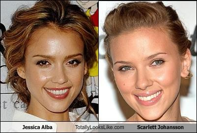 Jessica Alba Totally Looks Like Scarlett Johansson Cheezburger Funny Memes Funny Pictures