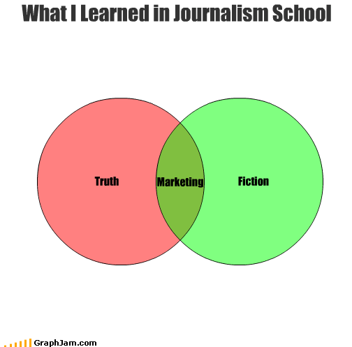 fiction journalism marketing school truth
