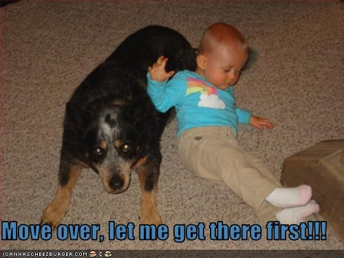 Move over, let me get there first!!!