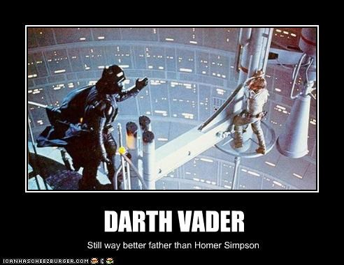 DARTH VADER Still way better father than Homer Simpson
