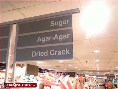 agar,crack,dried,g rated,grocery store,signs,sugar