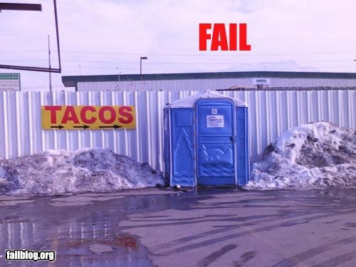 food g rated porta potty restaurant signs tacos - 2310529280