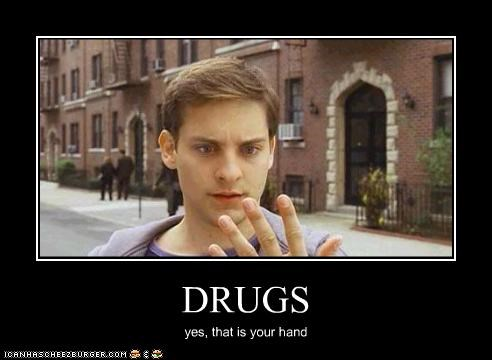 drugs,movies,Spider-Man,tobey maguire