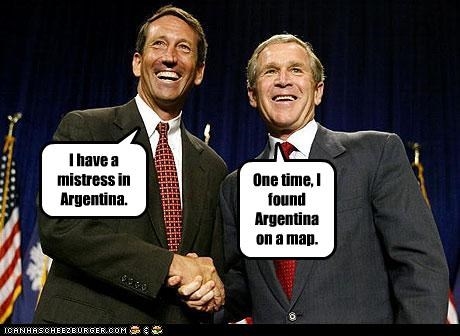 affairs,argentina,george w bush,Governor,Maps,mark sanford,mistress,president,Republicans