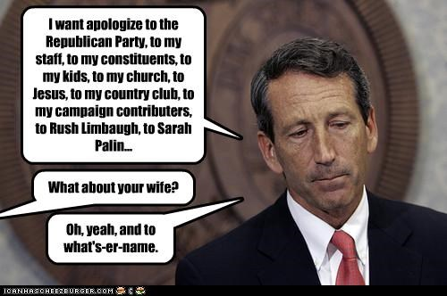 affairs church Governor jesus mark sanford Republicans Rush Limbaugh Sarah Palin sex south carolina wife