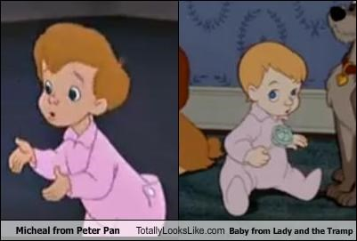 Micheal From Peter Pan Totally Looks Like Baby From Lady And The Tramp Cheezburger Funny Memes Funny Pictures
