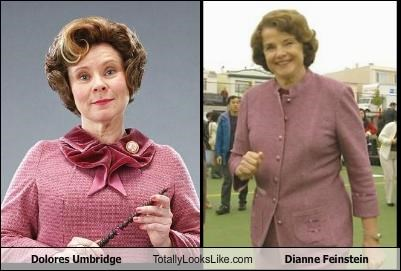 actor,dianne feinstein,dolores umbridge,Harry Potter,imelda staunton,politician,senator
