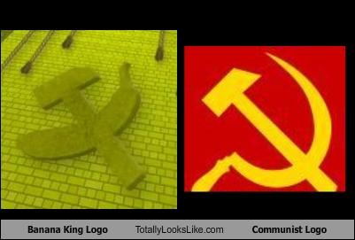 banana communism hammer and sickle logo russia