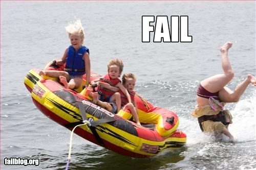 falling fun g rated kids tubing water woman