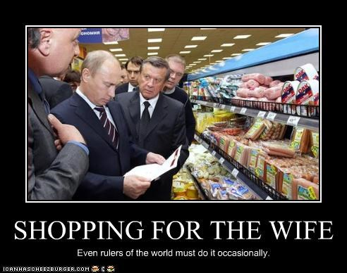 grocery store president prime minister russia Vladimir Putin wife - 2326560512