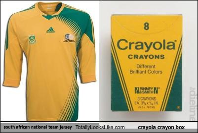 box clothing crayola crayons South Africa team jersey