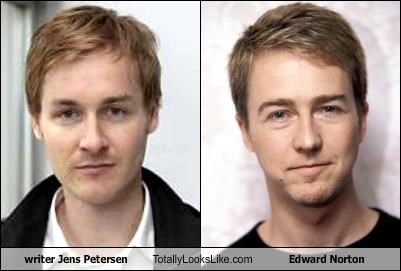 writer Jens Petersen Totally Looks Like Edward Norton