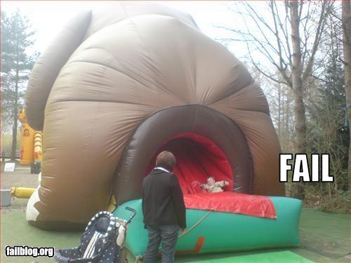 ass bouncy butt dogs hole inflatable kids slide - 2336844032