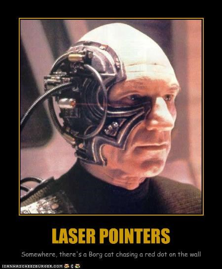 Cats lasers patrick stewart sci fi Star Trek the borg - 2340740864