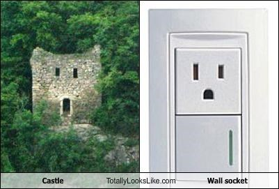 castle face wall socket - 2342547712