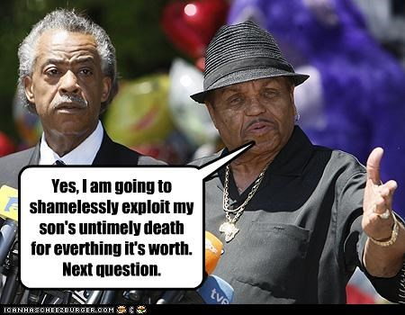 al sharpton,dad,Death,exploitation,fatherhood,joe jackson,michael jackson,Music