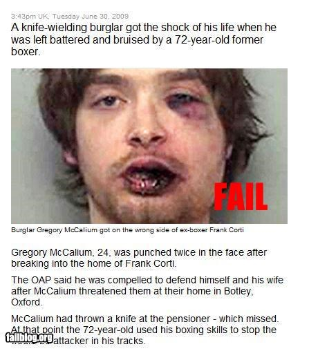 beaten black eye boxer burglar elderly g rated news old - 2346346240