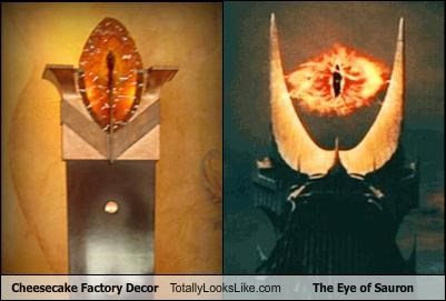 decorations Eye of Sauron Lord of the Rings restaurants the cheesecake factory