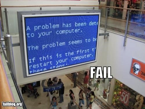 advertising,blue screen of death,failboat,g rated,screen,shopping,technology