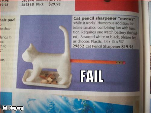 animals butts Cats classic failboat pencil sharpener pencils - 2358701824
