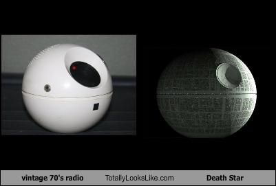 70s Death Star radio star wars vintage - 2361130240