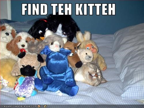 bed hiding stuffed animals w00t - 2361976064