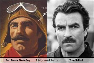 Red Baron Pizza Guy Totally Looks Like Tom Selleck Cheezburger