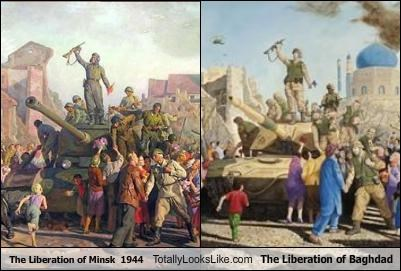 baghdad iraq liberation minsk paintings