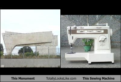 This Monument Totally Looks Like This Sewing Machine
