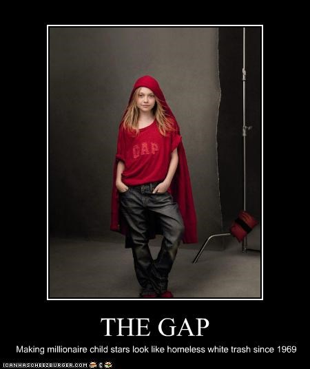 child stars,clothing,dakota fanning,rich,the gap